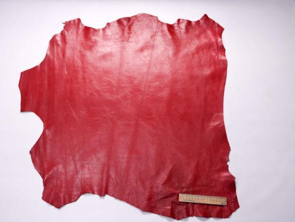 Кожа МРС, красная, 54 дм2.-107219