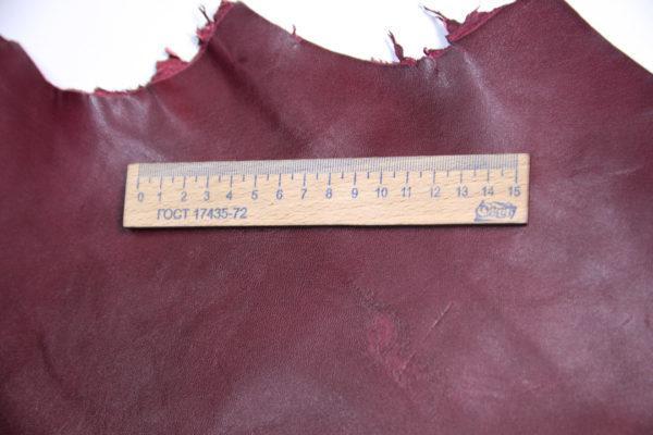 Кожа МРС, бордовая, 58 дм2.-107226