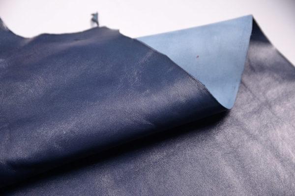 Кожа МРС, синяя, 49 дм2.-107227