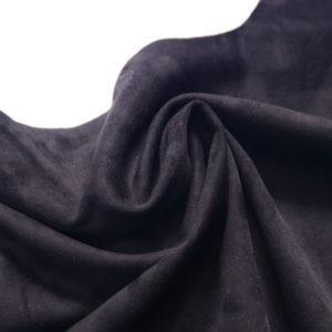 Замша одёжная МРС, чёрная, 40 дм2.-107235