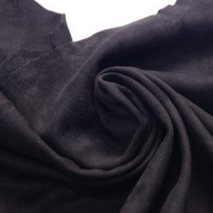 Замша одёжная МРС, чёрная, 41 дм2.-107236