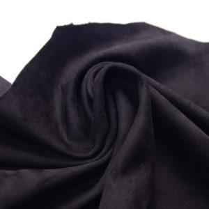 Замша одёжная МРС, чёрная, 44 дм2.-107237