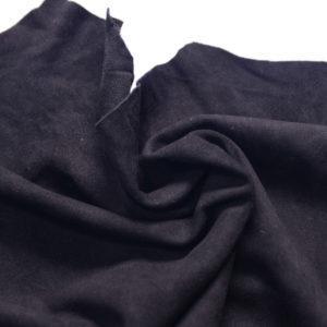 Замша одёжная МРС, чёрная, 46 дм2.-107239