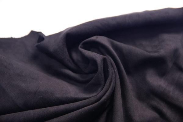 Замша одёжная МРС, чёрная, 33 дм2.-107240