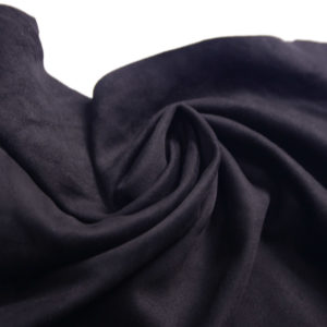 Замша одёжная МРС, чёрная, 38 дм2.-107241
