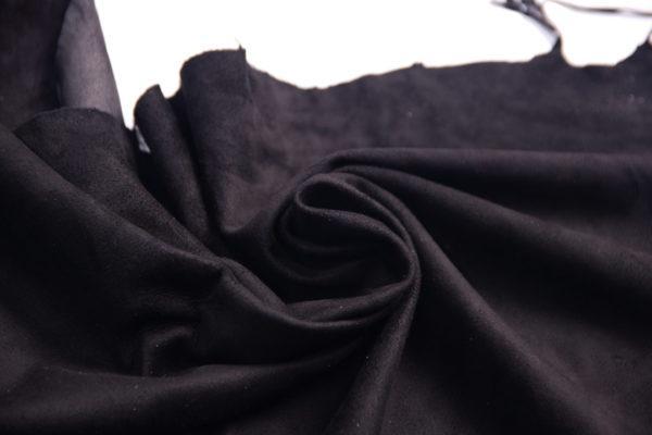 Велюр одёжный МРС, чёрный, 52 дм2.-107242