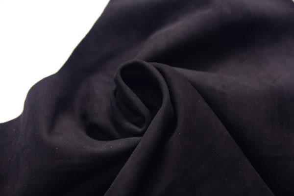 Велюр одёжный МРС, чёрный, 30 дм2.-107248