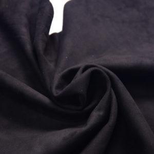 Велюр одёжный МРС, чёрный, 42 дм2.-107249
