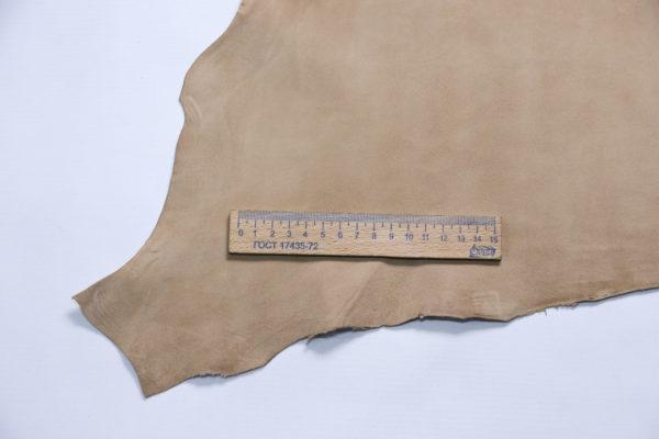 Велюр МРС, бежевый, 33 дм2, Conceria Stefania S.p.A.-107257