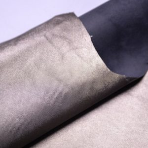 Кожа МРС с тиснением, серо-зелёный металлик, 49 дм2, Russo di Casandrino S.p.A.-107263