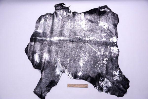 Пони, чёрная с серебром, 56 дм2.-107270