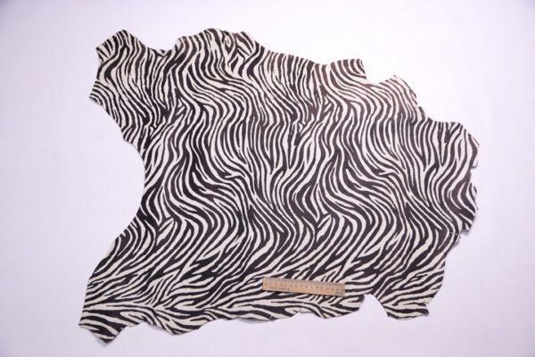 Велюр МРС с принтом, зебра, 46 дм2.-107277