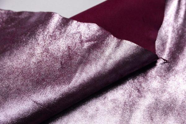 Велюр МРС, бордовый с розовым напылением, 33 дм2.-107288
