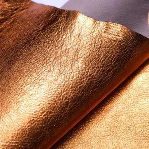 Кожа козы, оранжевый металлик, 34 дм2, Conceria Martucci Teresa S.R.L.-107299