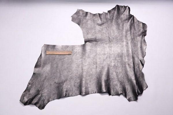 Велюр МРС (коза), графитовый металлик, 32 дм2.-107309