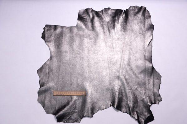 Велюр МРС (коза), графитовый металлик, 29 дм2.-107310