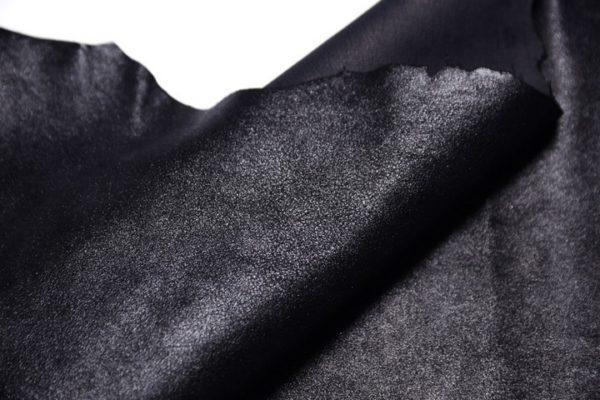 Велюр МРС (коза), чёрный металлик, 36 дм2, Conceria Gaiera GIOVANNI S.p.A.-107313