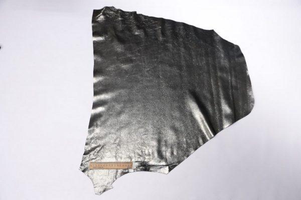 Кожа МРС, серый металлик с лазерным покрытием, 36 дм2, Russo di Casandrino S.p.A.-107319