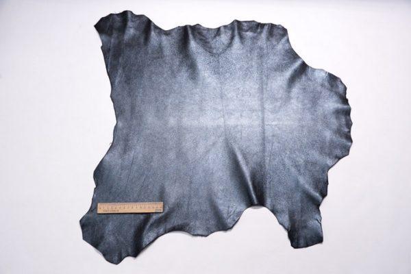 Велюр МРС с напылением, черно-голубой металлик, 36 дм2.-107324