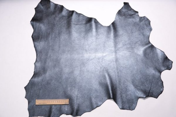 Велюр МРС с напылением, черно-голубой металлик, 37 дм2.-107325