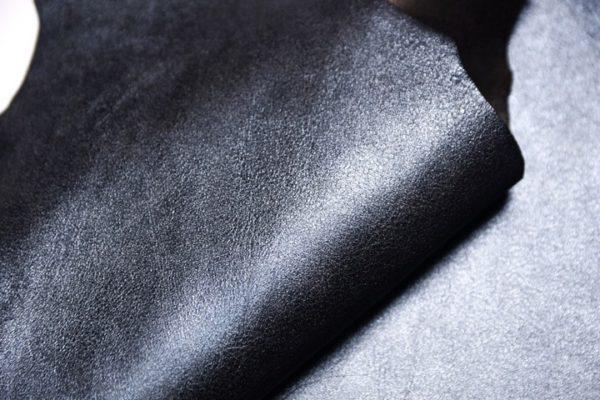 Велюр МРС с напылением, черно-голубой металлик, 29 дм2.-107326
