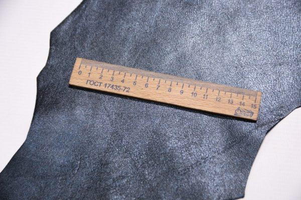 Велюр МРС с напылением, черно-голубой металлик, 33 дм2.-107327