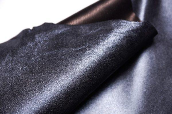 Велюр МРС с напылением, черно-голубой металлик, 40 дм2.-107329