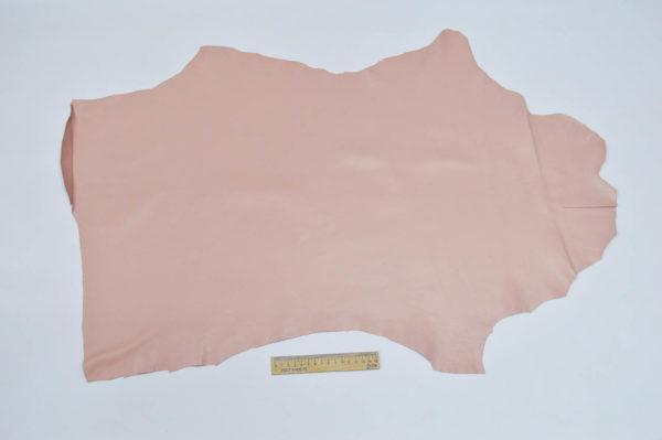 Кожа одёжная МРС, розовая, 4,5 фут. (42 дм2.)-301005