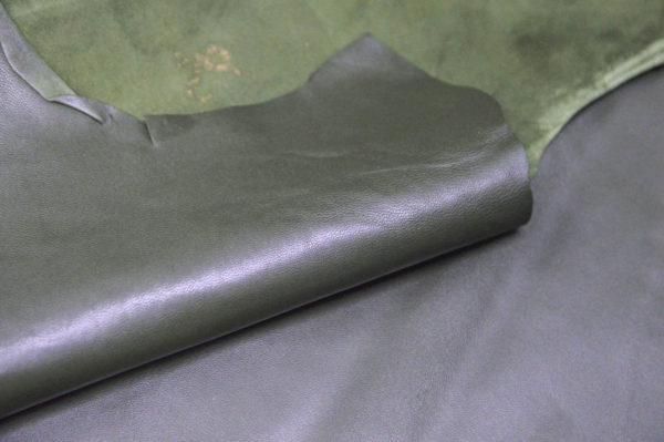 Кожа одёжная МРС, хаки, 6,5 фут. (60 дм2.)-301010