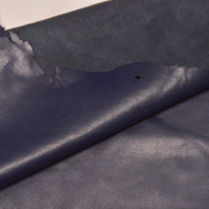Кожа одёжная МРС, синяя, 6,75 фут. (63 дм2.)-301021
