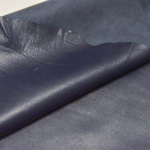 Кожа одёжная МРС, синяя-718