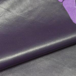 Кожа одёжная МРС, фиолетовая, 4,25 фут. (39 дм2.)-301023