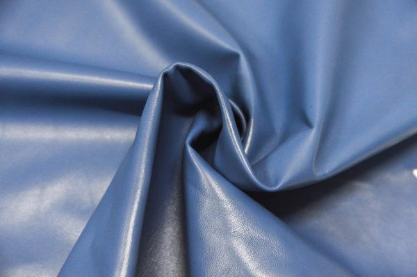 Кожа одёжная МРС, голубая-679