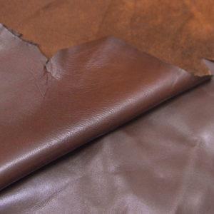 Кожа одёжная МРС, коричневая (фундук), 5,25 фут. (49 дм2.)-301029