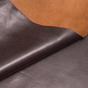 Кожа одёжная МРС, тёмно-коричневая, 5 фут. (46 дм2.)-301031