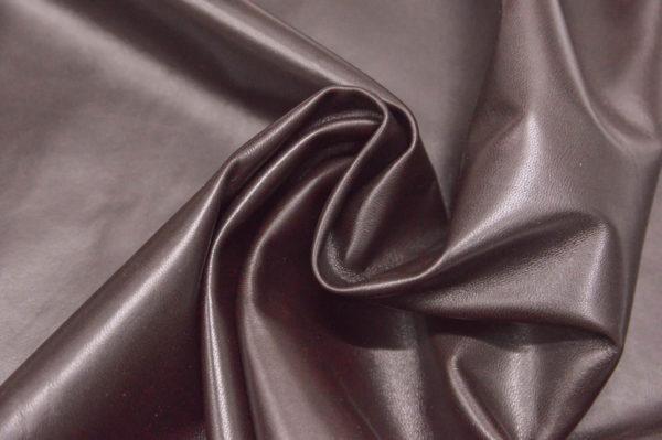 Кожа одёжная МРС, тёмно-коричневая-738
