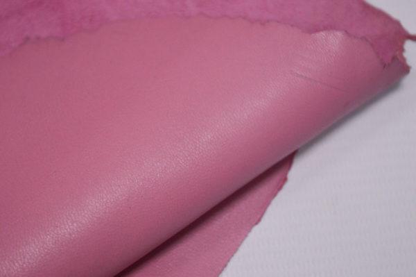 Кожа одёжная МРС, розовая, 9,75 фут. (91 дм2.)-301039