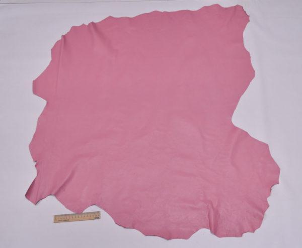 Кожа одёжная МРС, розовая, 9,25 фут. (86 дм2.)-301040