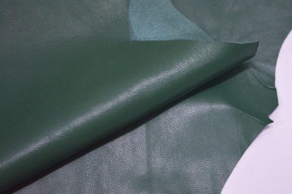 Кожа одёжная МРС, зелёная-6-57