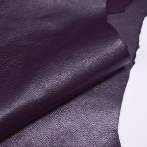 Кожа одёжная МРС, баклажан, 7 фут. (65 дм2.)-301054