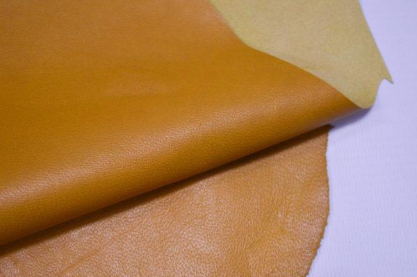 Кожа одёжная МРС, горчичная-6-91