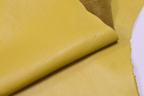 Кожа одёжная МРС, лимонная-Pb-089