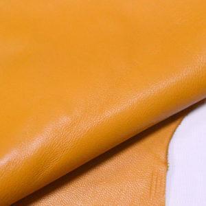 Кожа одёжная МРС, тёмно-жёлтая-Pb-104