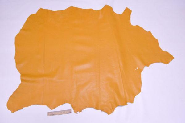 Кожа одёжная МРС, тёмно-жёлтая, 9,75 фут2.-401006
