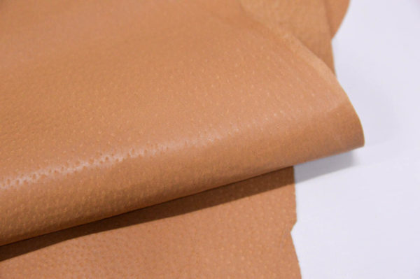 Кожподклад свиной (спилок) вощёный, песочный (кэмэл)-Pb-046