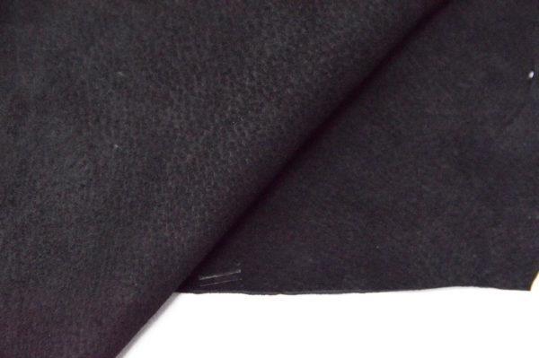 Кожподклад свиной (спилок), чёрный-Pb-033