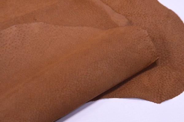 Кожподклад свиной (спилок), светло-коричневый (нугат), 76 дм2.-401011