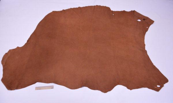 Кожподклад свиной (спилок), виски, 13,75 фут2.-401012