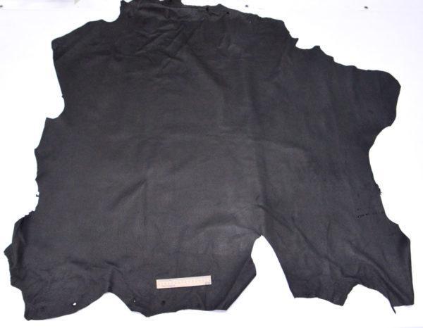 Кожподклад свиной, чёрный, 160 дм2.-401016