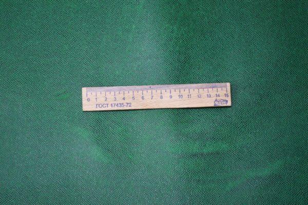 Кожа КРС, сафьяно (Saffiano), зелёная, 150 дм2.-901010